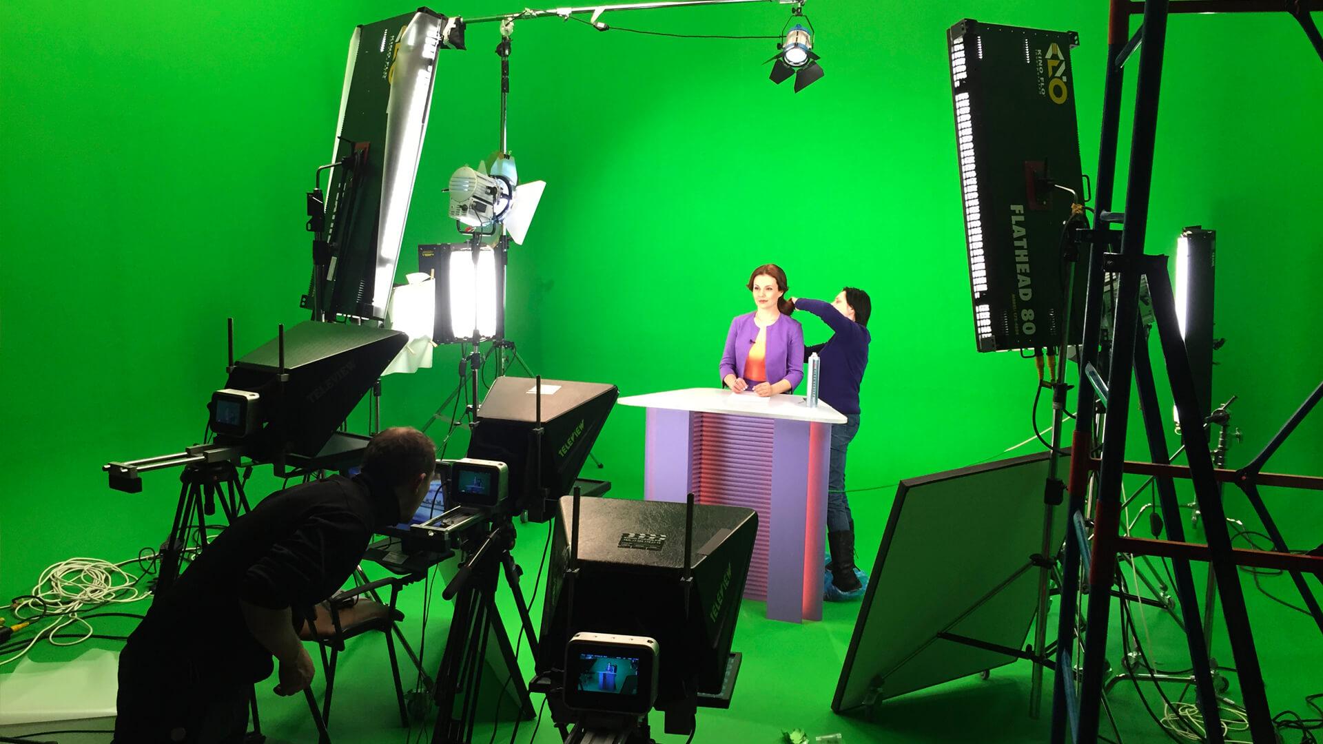 Съемка телепередачи с виртуальной студией