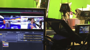 Производство теленовостей с использованием виртуальной студии