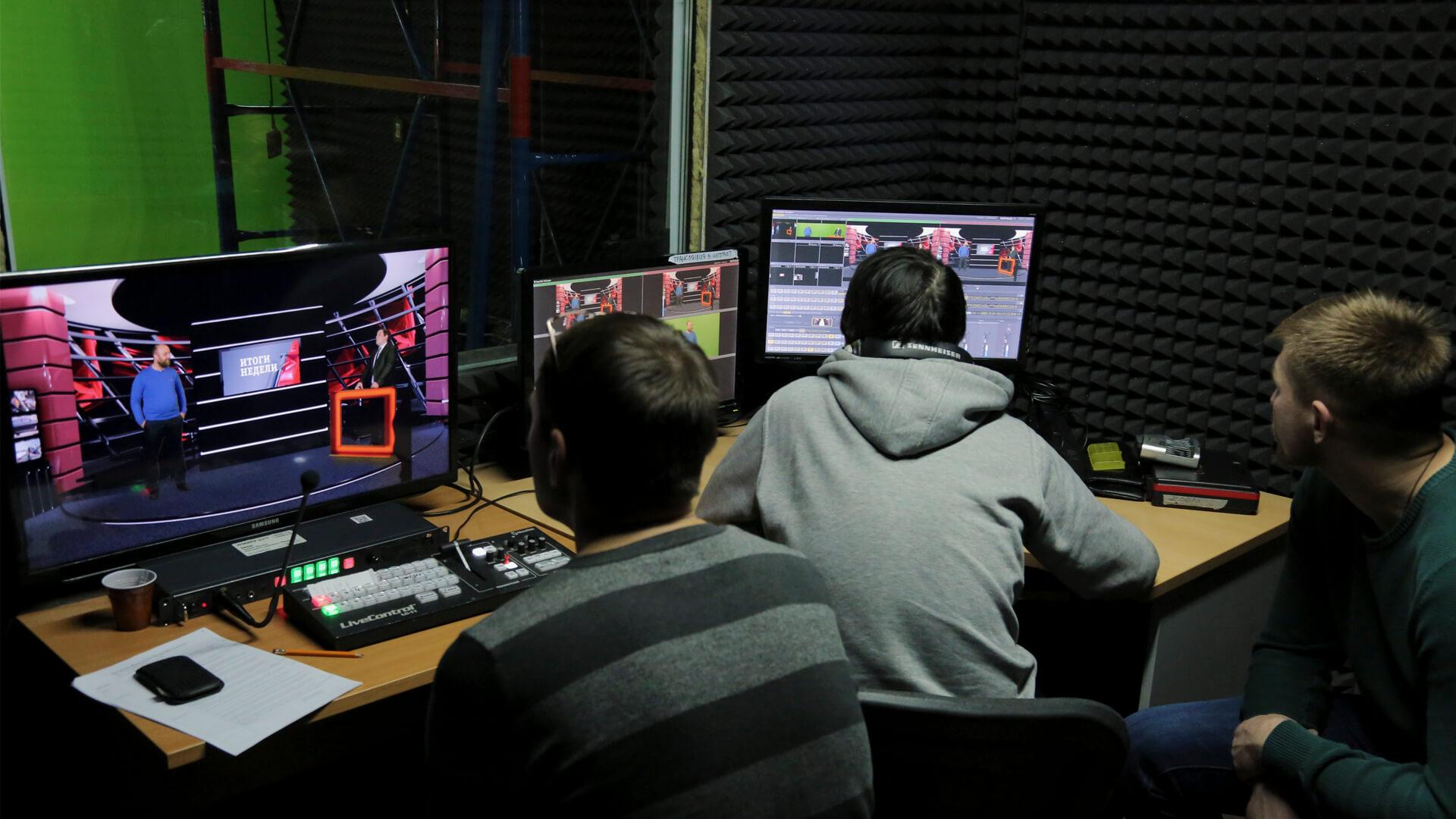 Виртуальная студия для еженедельной телепередачи